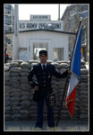 Checkpoint Charlie, where it was controlled by the allied forces (US, France, UK) on the west side & the Russians on the east side
