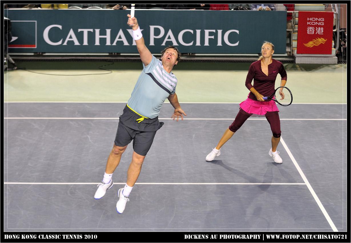 Team Russia Maria Sharapova & Yevgeny Kafelnikov vs Team Asia