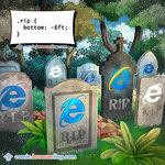RIP Internet Explorer - Programming Joke